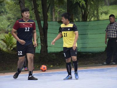 การแข่งขันกีฬาฟุตซอลระดับอศจ.ราชบุรี วันที่3